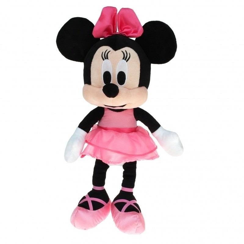 Pluche Minnie Mouse ballerina met roze jurk 40 cm