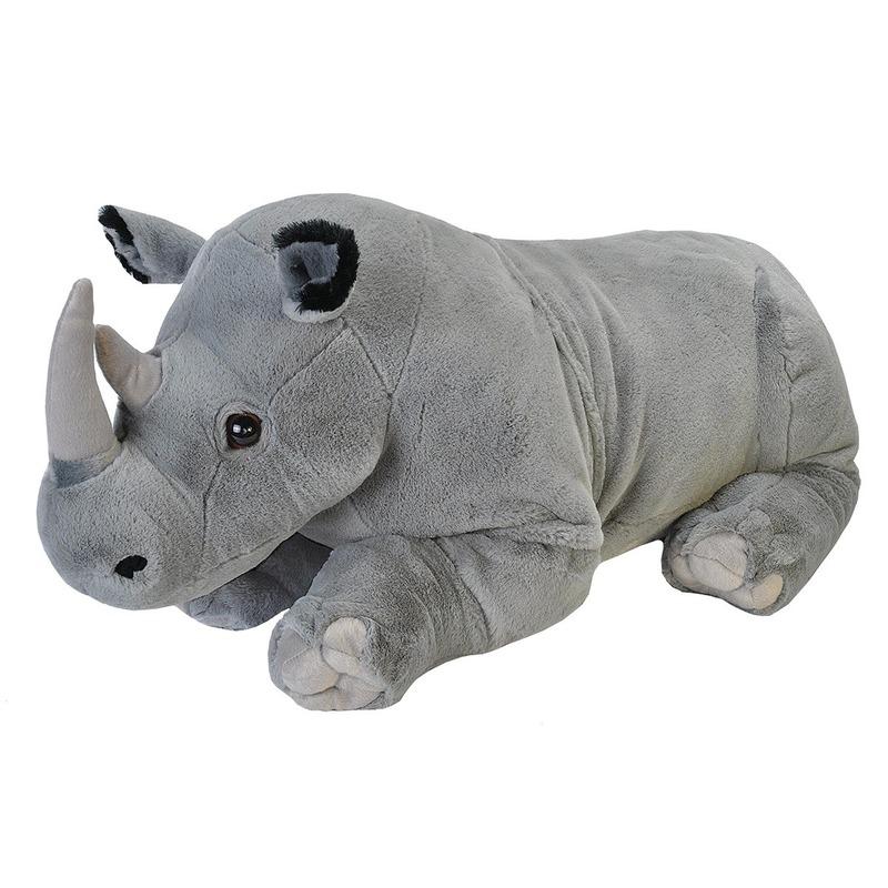 Afbeelding Pluche neushoorn grote dierenknuffel 76 cm door Animals Giftshop
