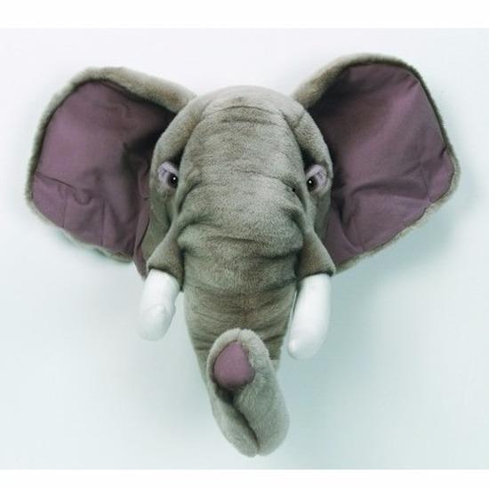 Pluche olifanten hoofd