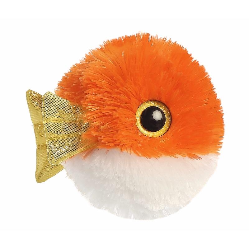 Pluche oranje vissen knuffeldier 20 cm