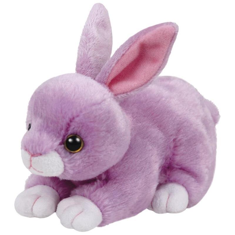 Pluche paarse konijnen/hazen Ty Beanie Dash 15 cm