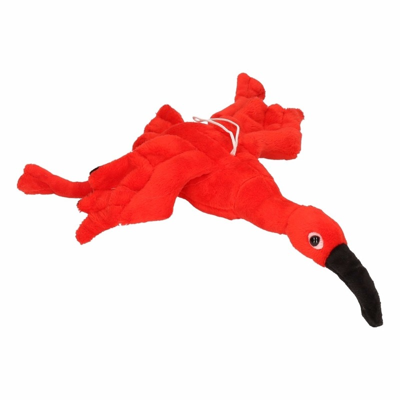 Pluche rode ibissen 34 cm