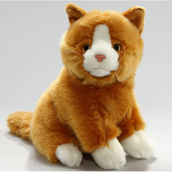 Pluche rode kater kat/poes23 cm