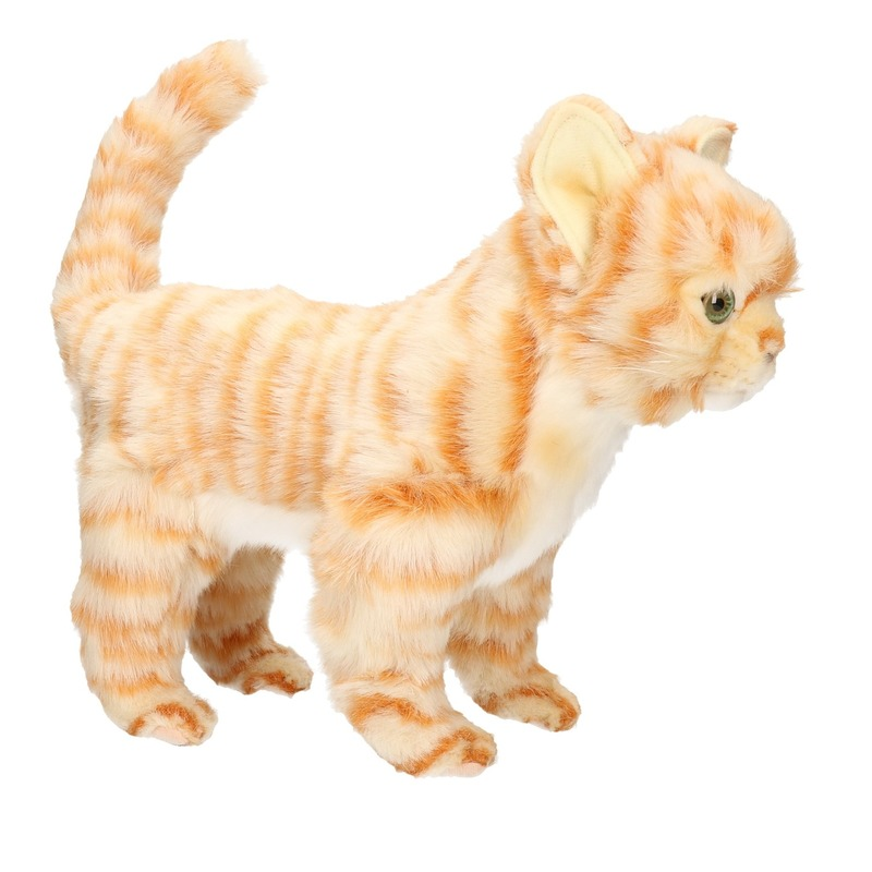 Pluche rode kitten poesje/katje knuffeldier 30 cm