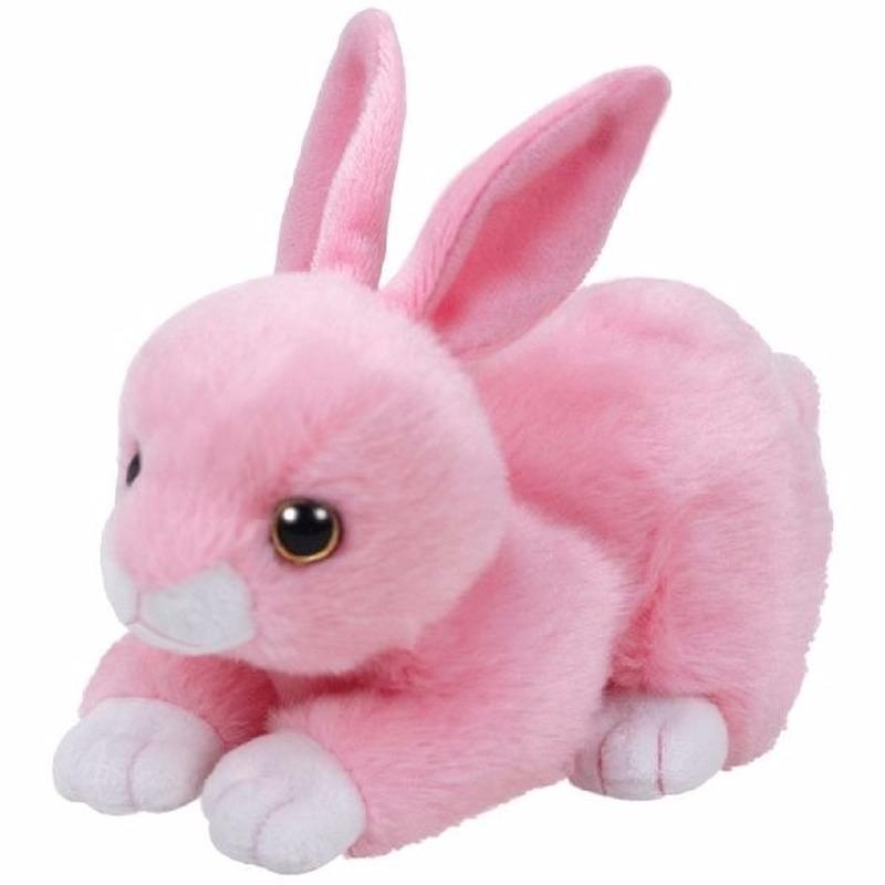 Pluche roze konijnen/hazen Ty Beanie Classic Walker 15 cm