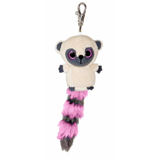 Pluche roze nacht aap sleutelhanger 7,5 cm