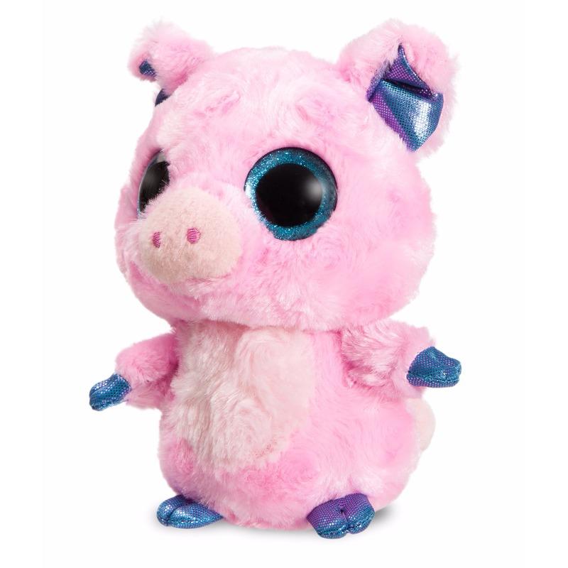 Pluche roze varken knuffeldier 20 cm