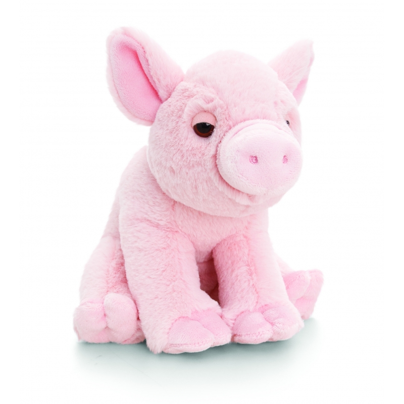 Pluche roze varken knuffeldier 25cm