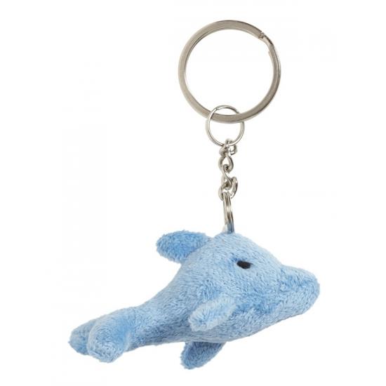 Pluche sleutelhanger dolfijn 6 cm