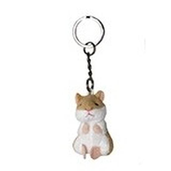 Pluche sleutelhanger hamstertje knuffel 6 cm
