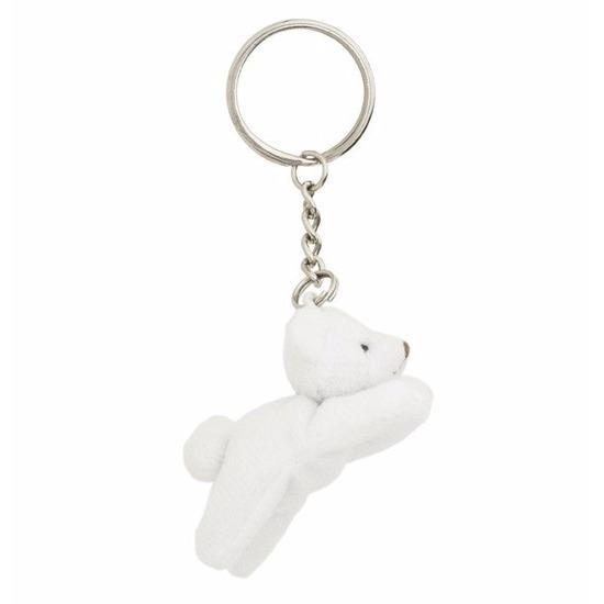 Pluche sleutelhanger ijsbeer 6 cm