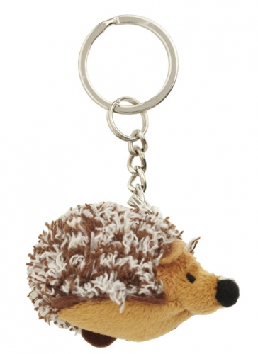 Pluche sleutelhanger Mini egel knuffel 6 cm