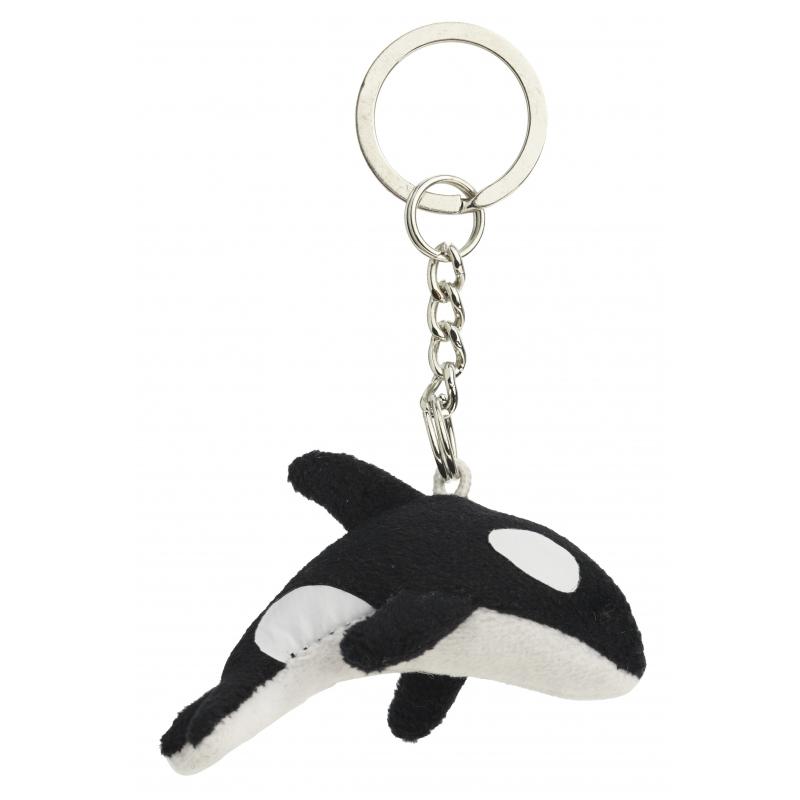 Pluche sleutelhanger orka 6 cm