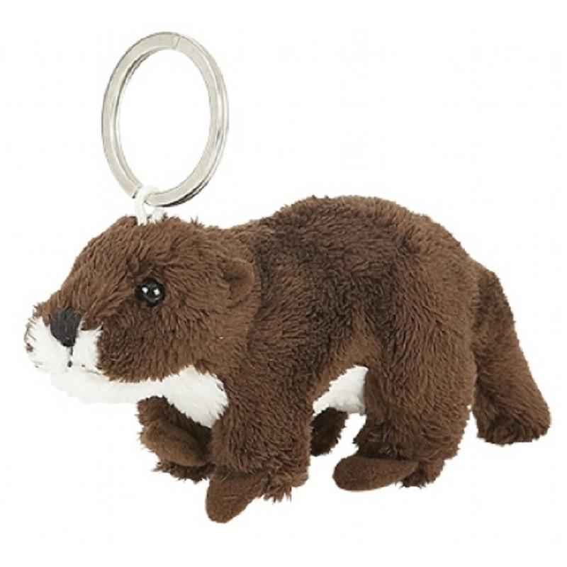 Pluche sleutelhanger otter knuffel speelgoed 10 cm