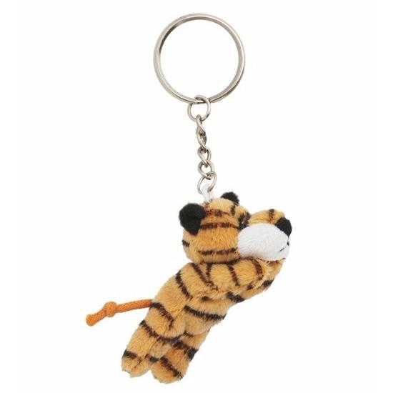 Pluche sleutelhanger tijger knuffel 6 cm
