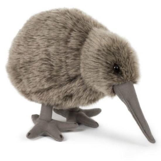 Pluche speelgoed kiwi vogel knuffeldier 20 cm
