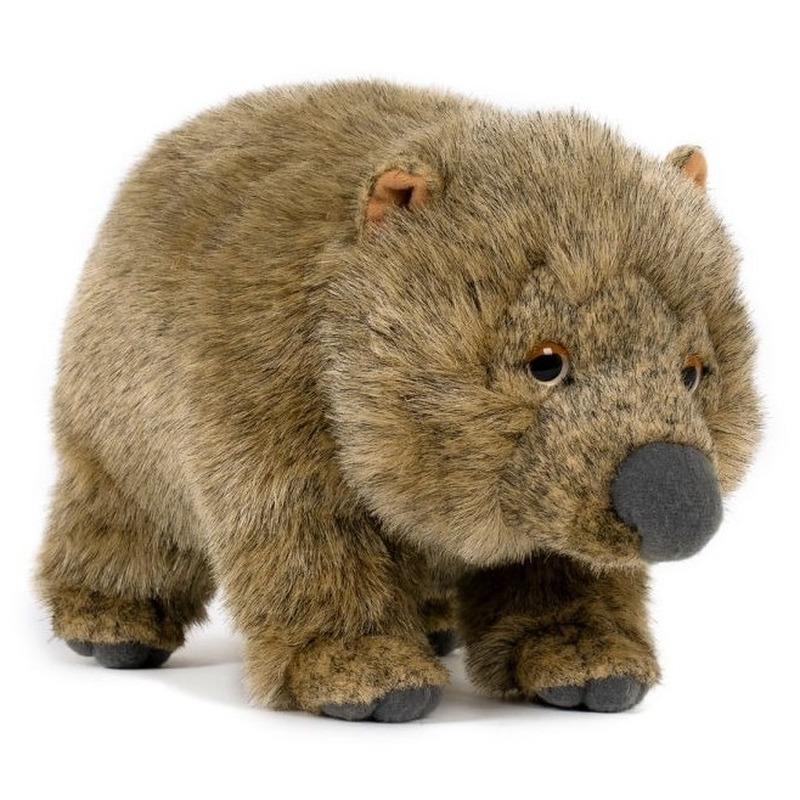 Pluche speelgoed wombat knuffeldier 25 cm