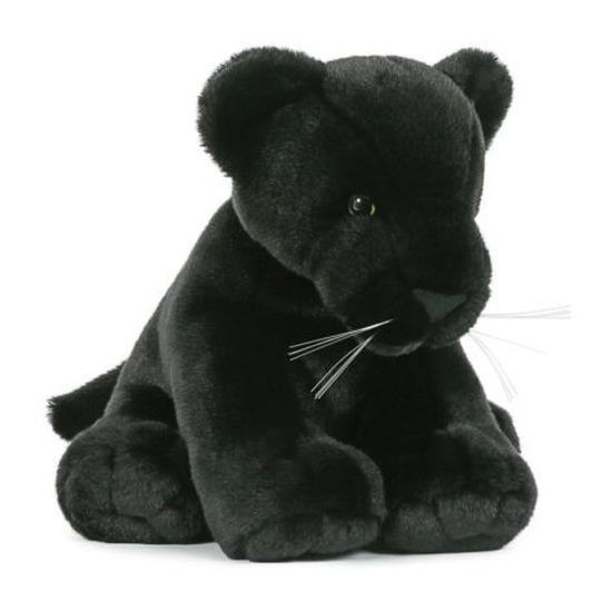 Pluche speelgoed zwarte panter knuffeldier 30 cm