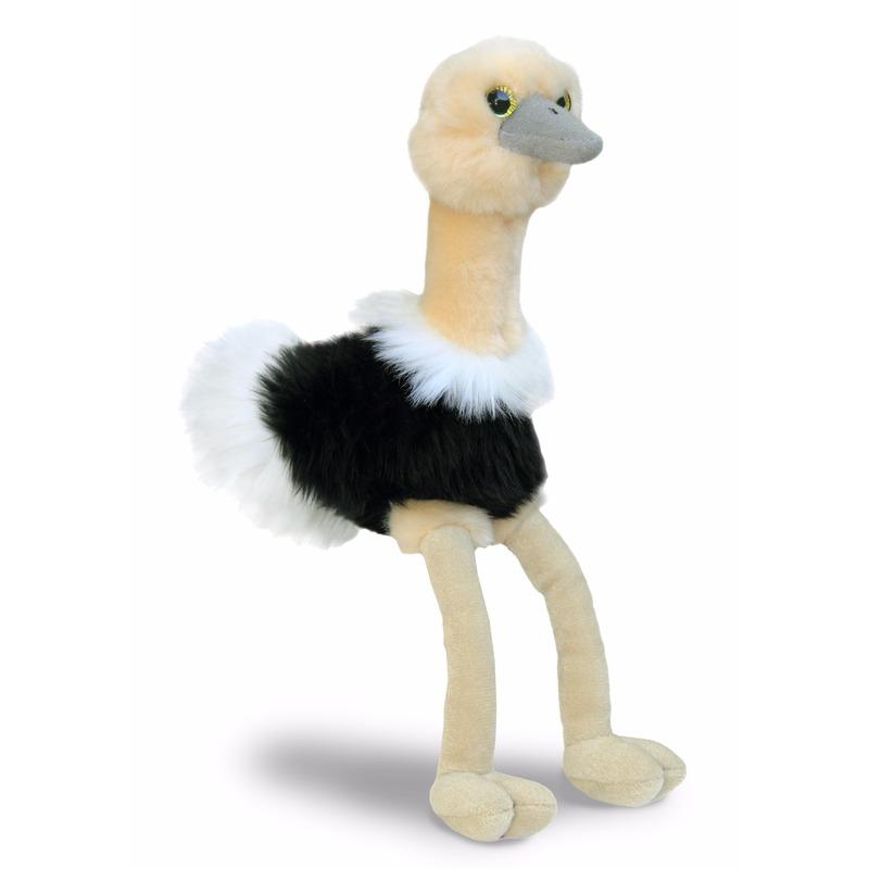 Pluche struisvogeltje knuffeldier 20 cm