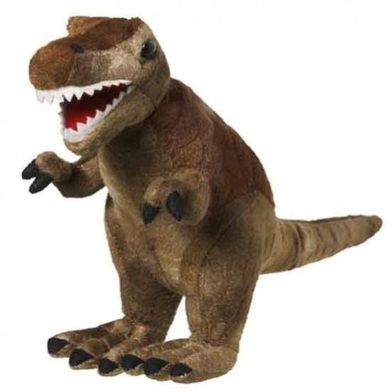 Pluche T-Rex bruin 20 cm