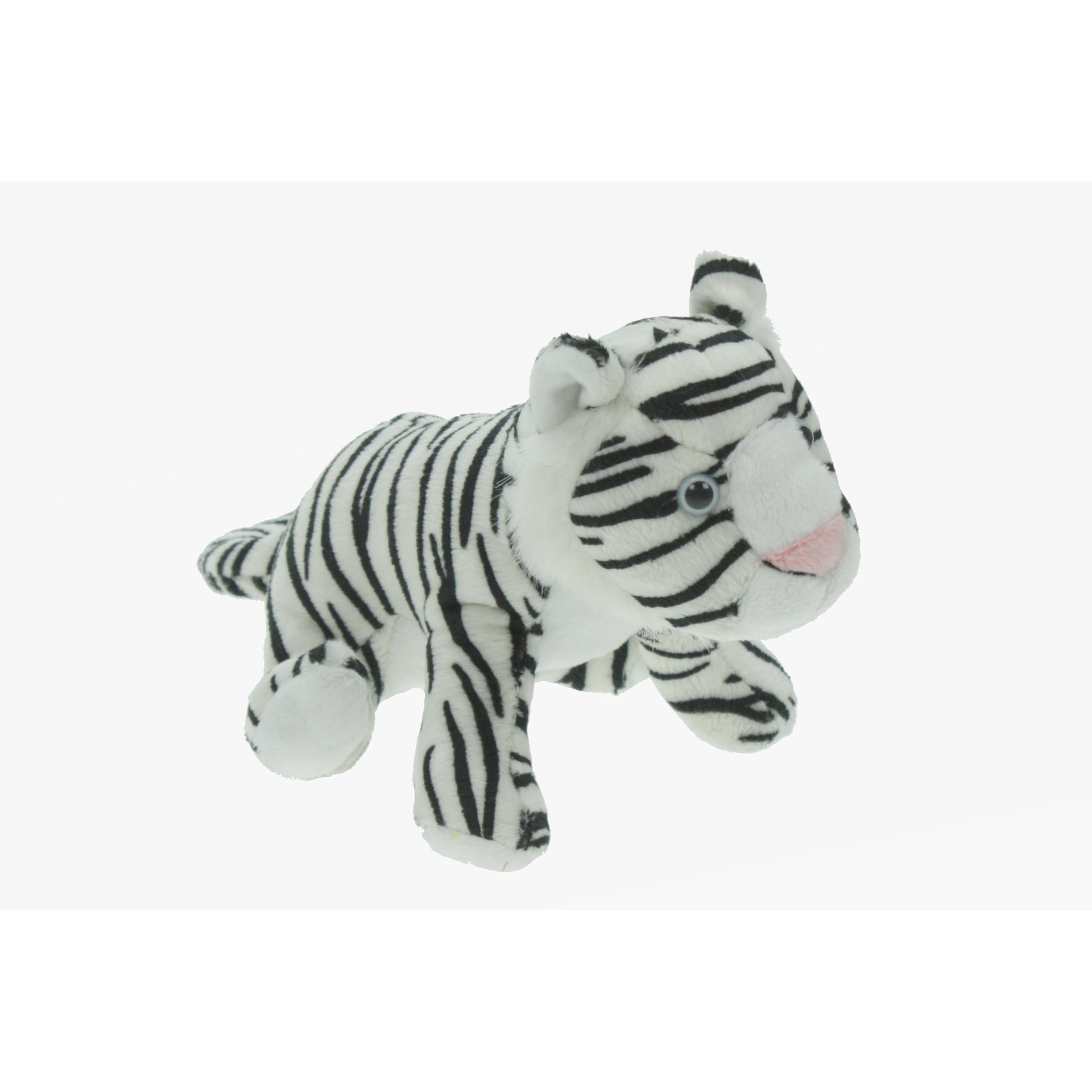Pluche tijger knuffeldier wit 23 cm speelgoed