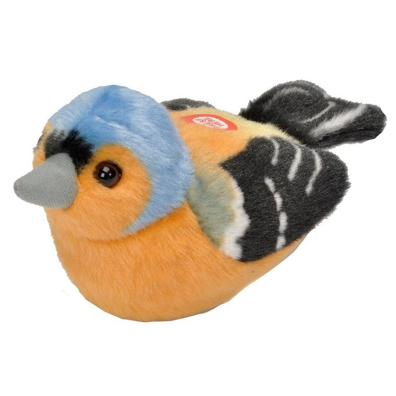 Pluche vink vogeltje dierenknuffel 13 cm