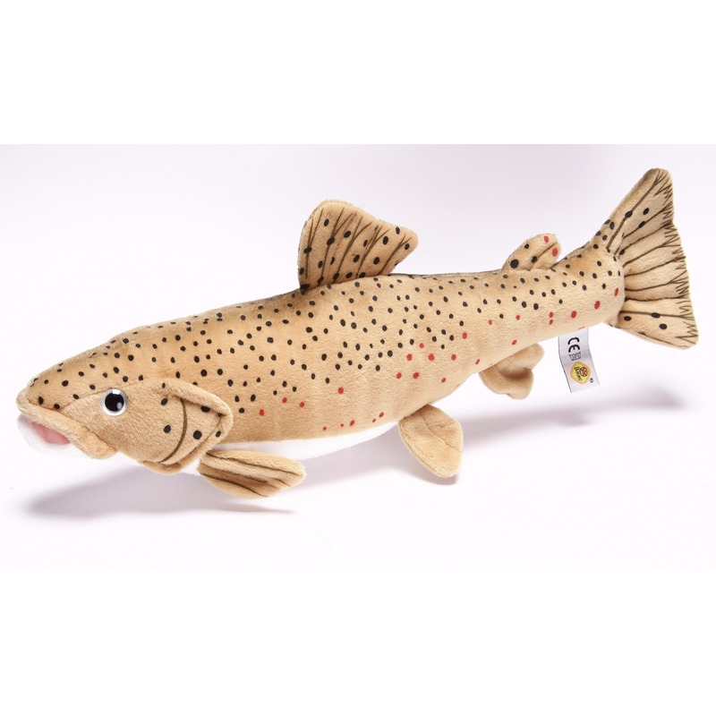 Pluche vissen knuffeldier bruine forel 43 cm