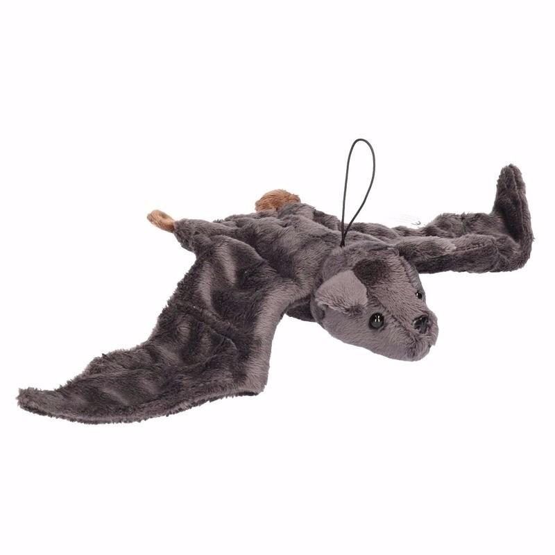 Pluche vliegend vleermuisje grijs 36 cm