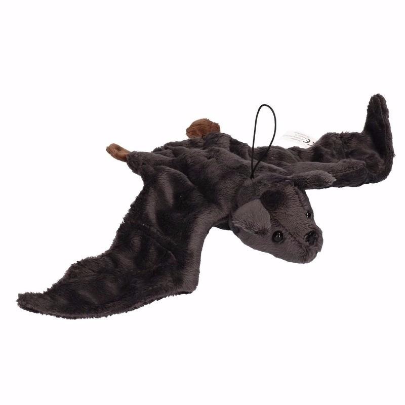 Pluche vliegend vleermuisje zwart 36 cm