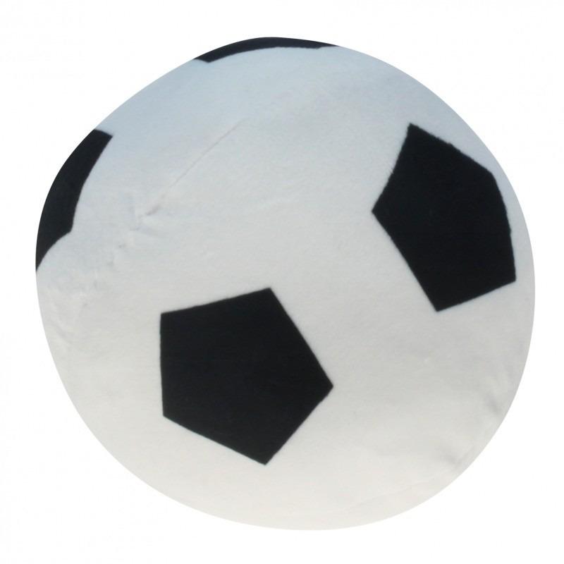 Pluche voetbal wit met zwart 16 cm
