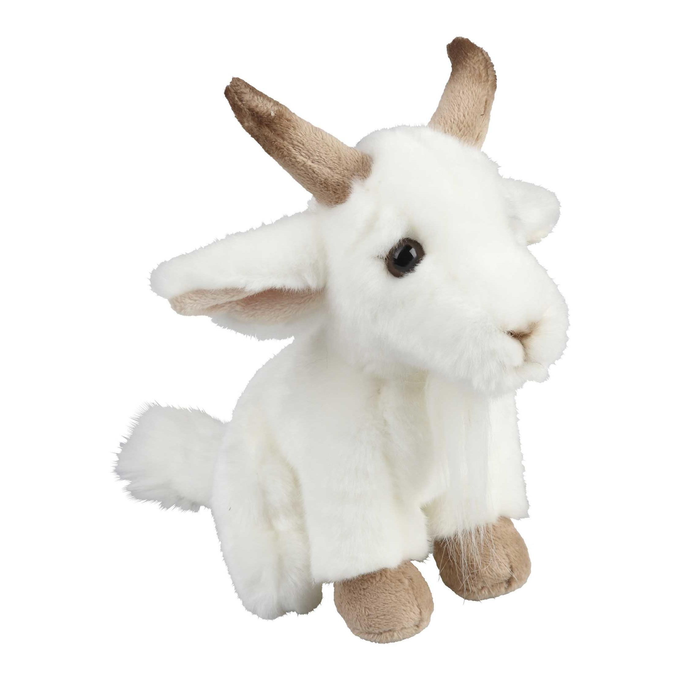 Pluche witte geit knuffel 18 cm knuffeldieren