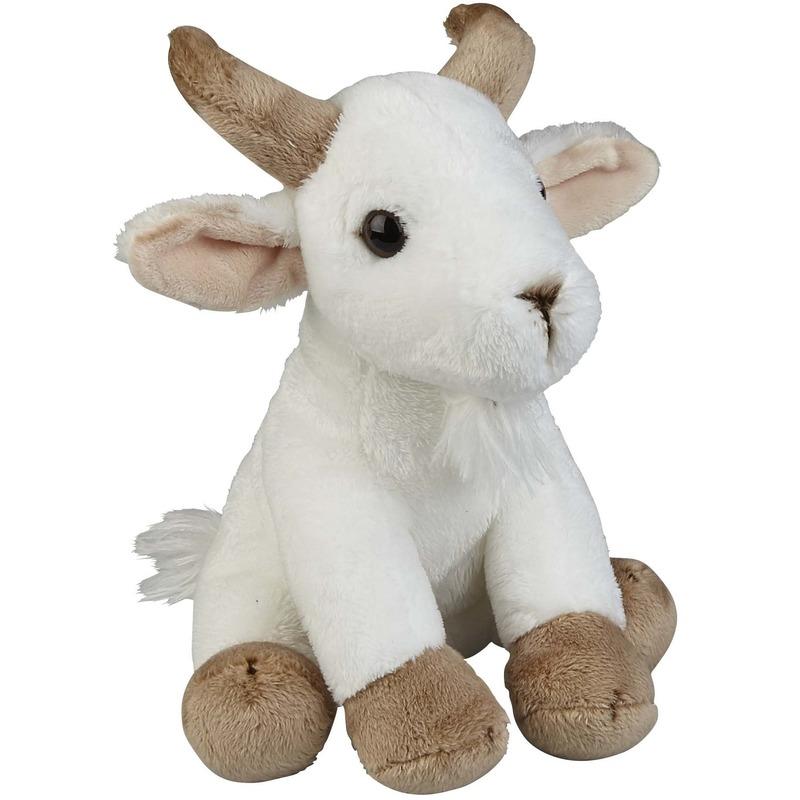 Pluche witte geiten knuffels 19 cm