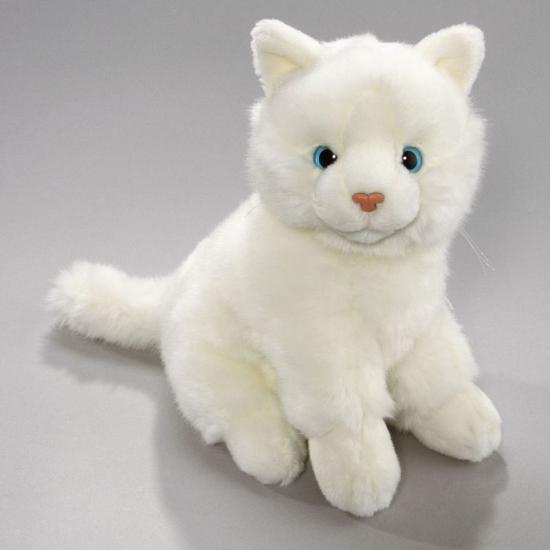 Pluche witte kat/poes 23 cm