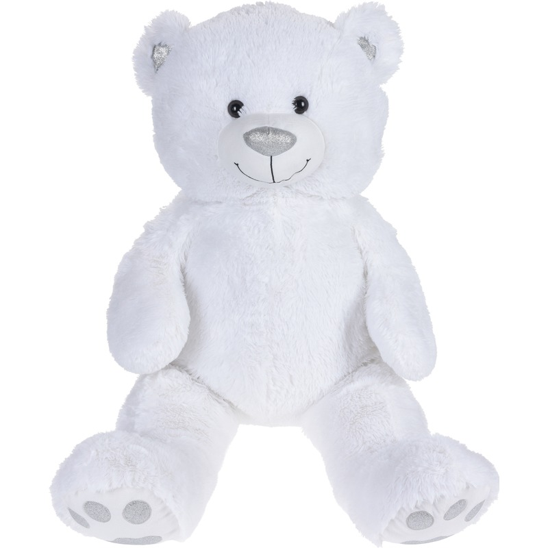 Pluche witte teddybeer knuffel 100 cm