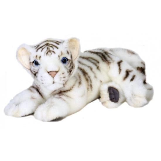 Pluche witte tijger welp 26 cm