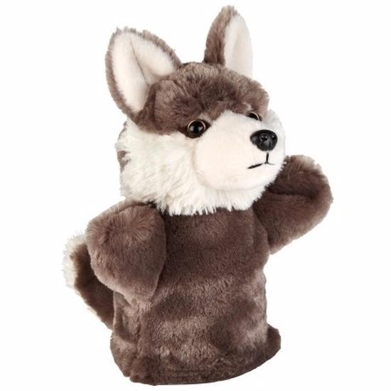 Pluche wolf handpop 24 cm