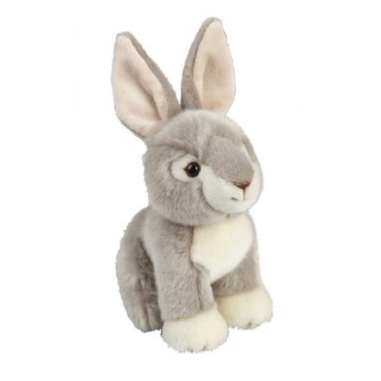 Pluche zittend konijn/haas knuffeldier 18 cm