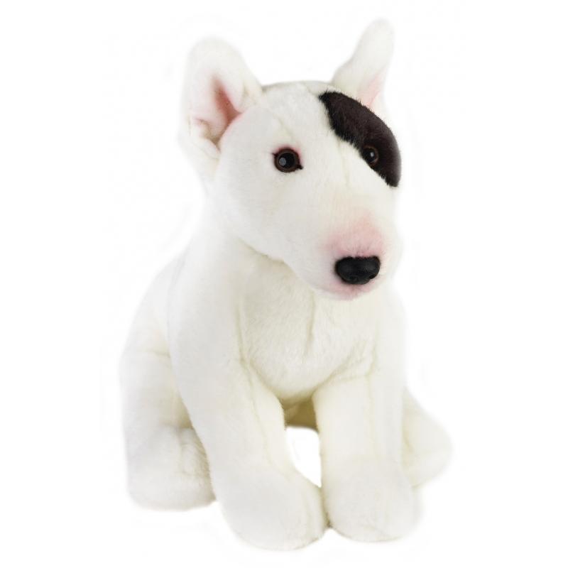Pluche zittende Bullterrier hond 23 cm