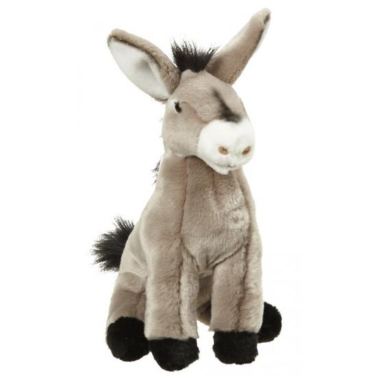 Pluche zittende ezels 26 cm
