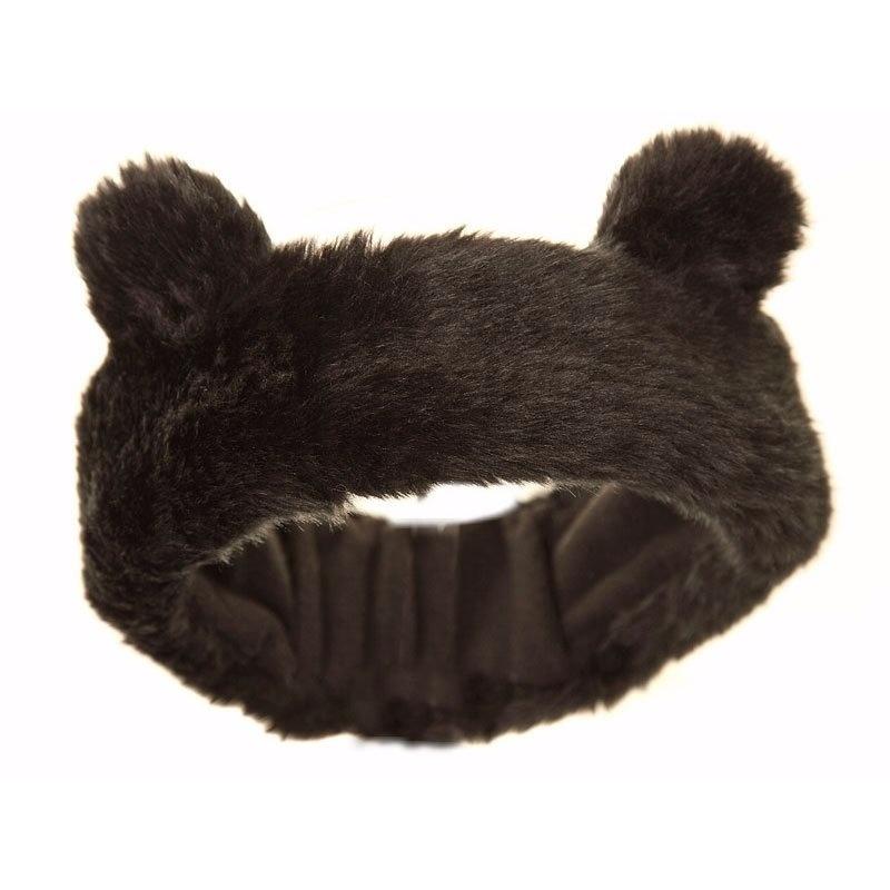 Pluche zwarte hoofdband met voor meiden