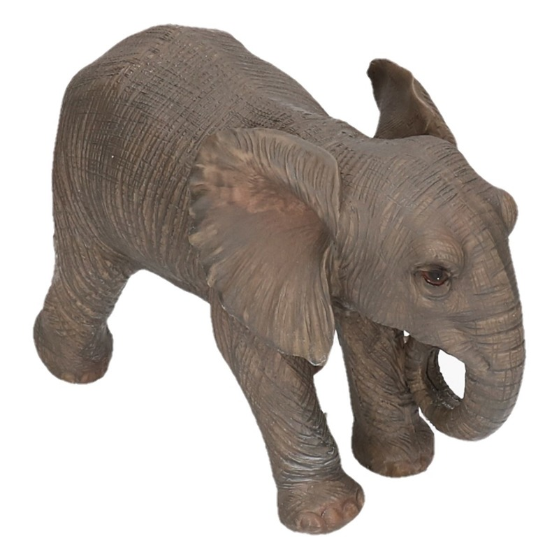 Polystone tuinbeeld olifanten 29 cm