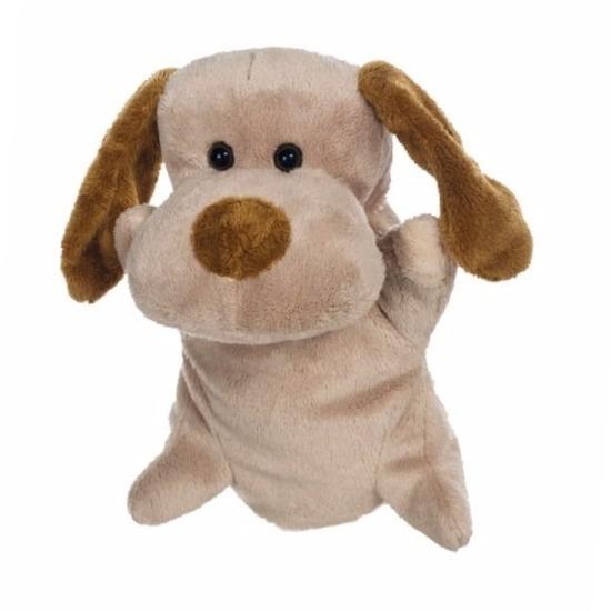 Poppenkast poppen pluche hond 24 cm