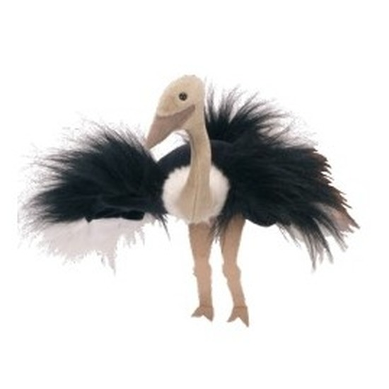 Poppentheater handpop struisvogel 22 cm