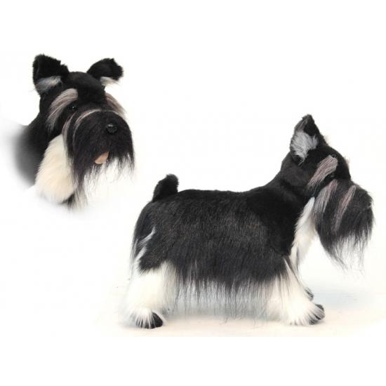 Realischtische pluche Schnauzer hond 45 cm