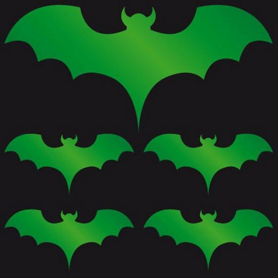 Reflectie stickers groene vleermuis