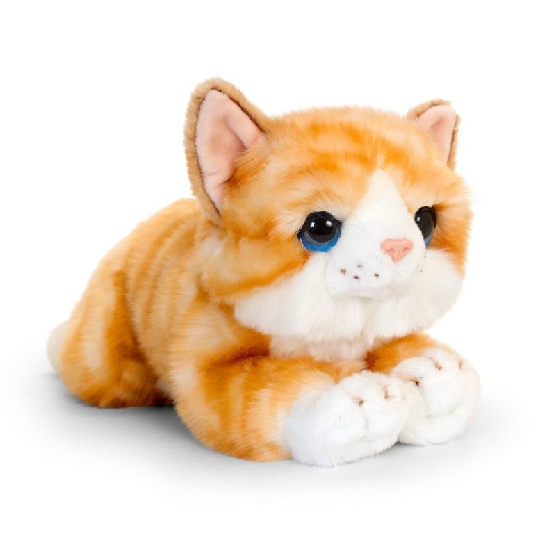 Rode kitten knuffelkat 32 cm
