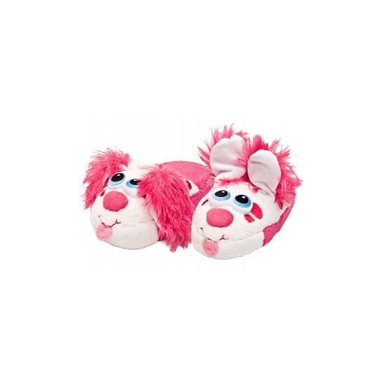 Roze kinder sloffen hond
