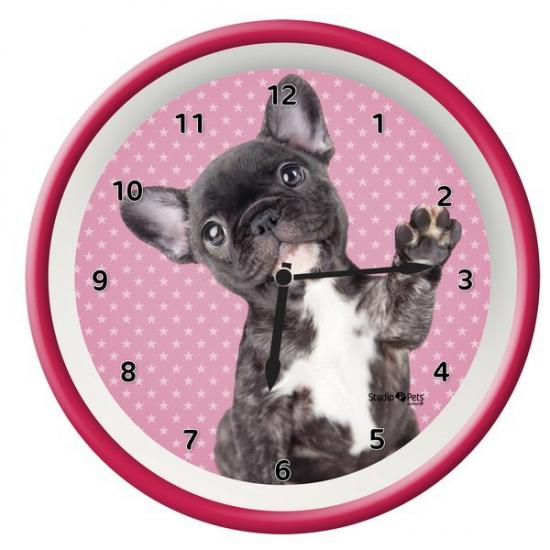 Roze klok Franse Bulldog