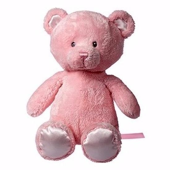 Roze knuffelbeer Jette 28 cm