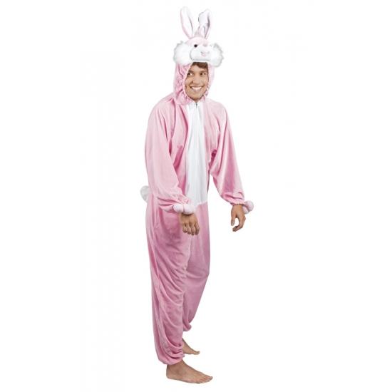 Roze konijnen/ hazen kostuum voor heren